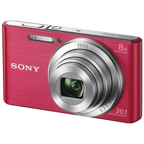 Sony DSC-W830 Digital Camera Deluxe Kit (Pink)