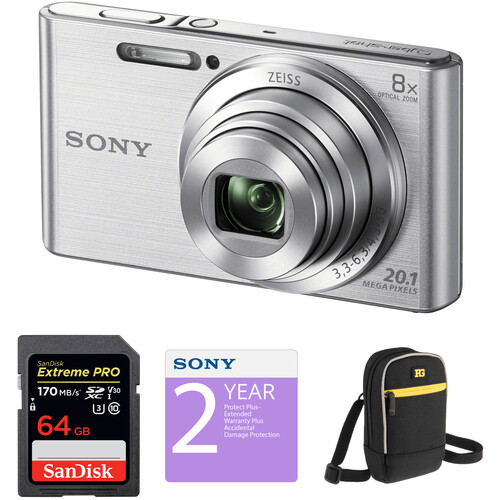 Sony DSC-W830 Digital Camera Deluxe Kit (Silver)
