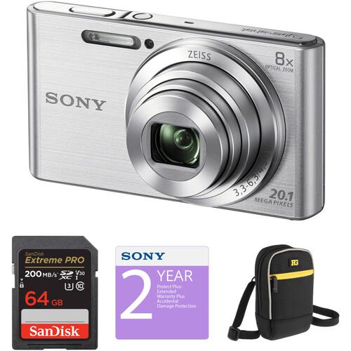 Sony DSC-W830 Digital Camera Deluxe Kit (Silver)