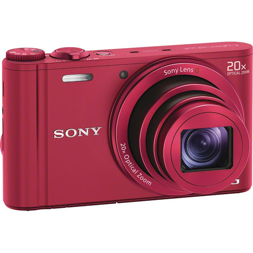 Sony Cyber-shot DSC-WX300 Digital Camera (Red)