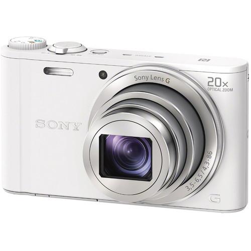 Sony Cyber-shot DSC-WX350 Digital Camera (White)