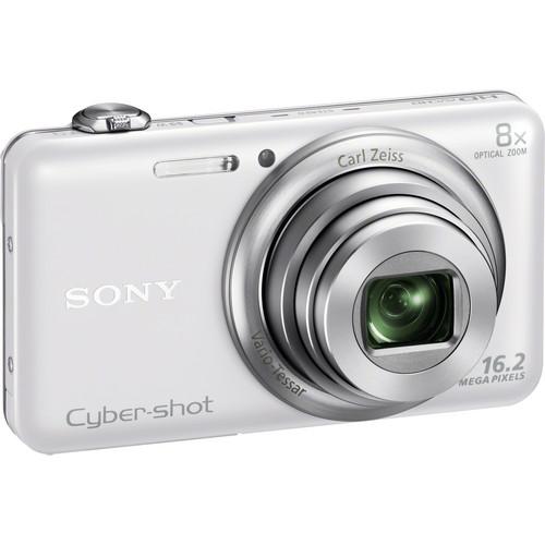 Sony Cyber-shot DSC-WX80 Digital Camera (White)
