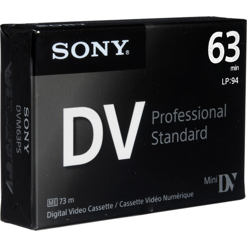 Sony Mini DV Professional Standard Digital Video Cassette (63 min)