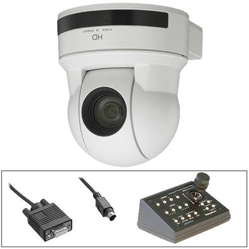 Sony EVI-H100V PTZ Cam w/Telemetrics Controller & RS-232 Cable Kit (White)