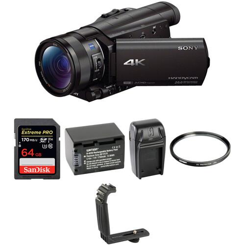 Sony FDR-AX100 4K Camcorder Basic Kit