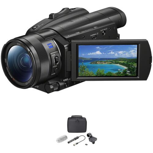 Sony FDR-AX700 4K Camcorder & XLR Shotgun Mic Kit