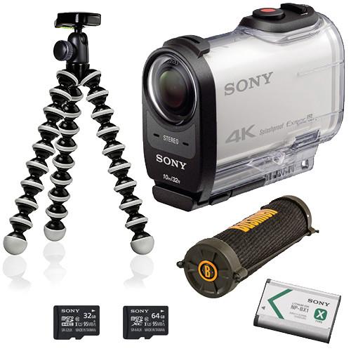 Sony FDR-X1000V 4K Action Cam Camping Kit