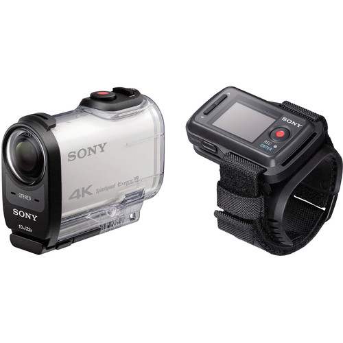 Sony FDR-X1000V 4K Action Cam with Live View Remote Bundle