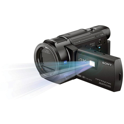 Sony 64GB FDR-AXP35 4K Camcorder with Built-In Projector (PAL)