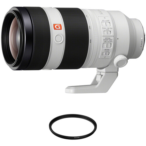 Sony FE 100-400mm f/4.5-5.6 GM OSS Lens with Circular Polarizer Filter Kit