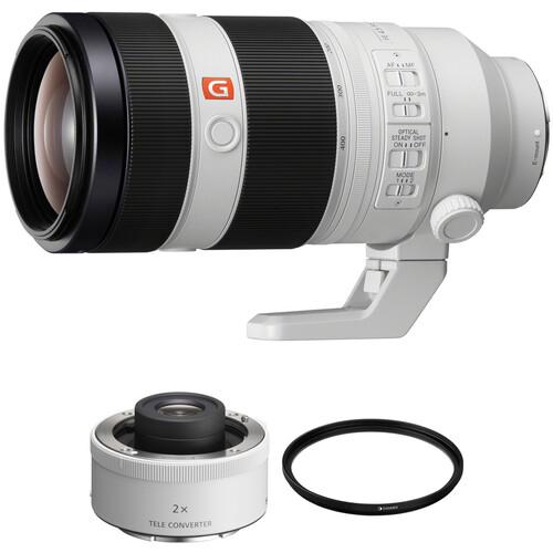 Sony FE 100-400mm f/4.5-5.6 GM OSS Lens with 2x Teleconverter Kit