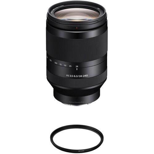 Sony FE 24-240mm f/3.5-6.3 OSS Lens with UV Filter Kit