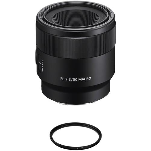 Sony FE 50mm f/2.8 Macro Lens with UV Filter Kit