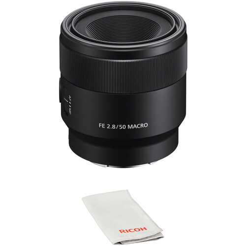 Sony FE 50mm f/2.8 Macro Lens with Lens Care Kit