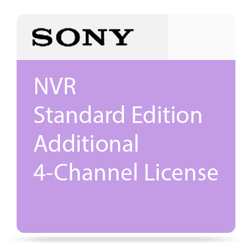 Sony NVR Standard Edition Additional 4-Channel License