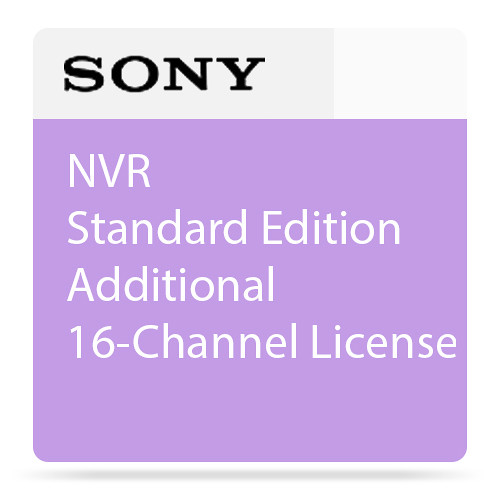 Sony NVR Standard Edition Additional 16-Channel License