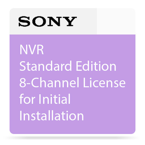 Sony NVR Standard Edition 8-Channel License for Initial Installation