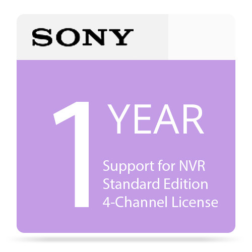 Sony 1-Year Support for NVR Standard Edition 4-Channel License