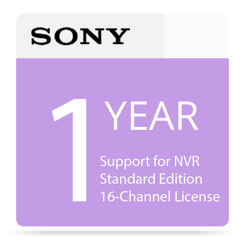 Sony 1-Year Support for NVR Standard Edition 16-Channel License