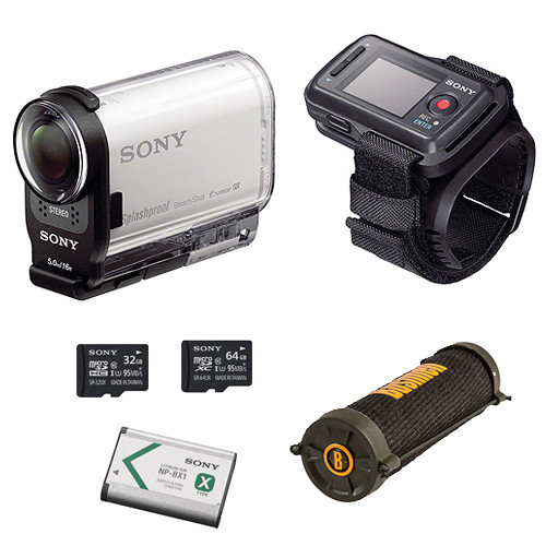 Sony HDR-AS200V HD Action Cam Camping Kit with Live View Remote