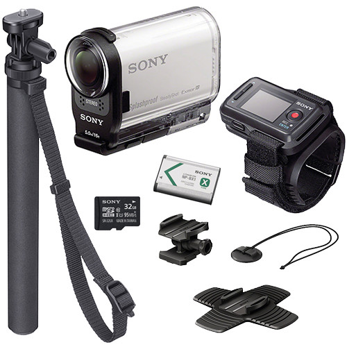Sony HDR-AS200V HD Action Cam Summer Kit with Live View Remote