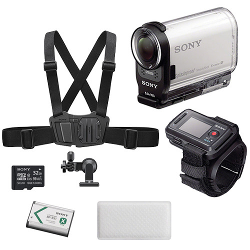 Sony HDR-AS200V HD Action Cam Winter Kit with Live View Remote