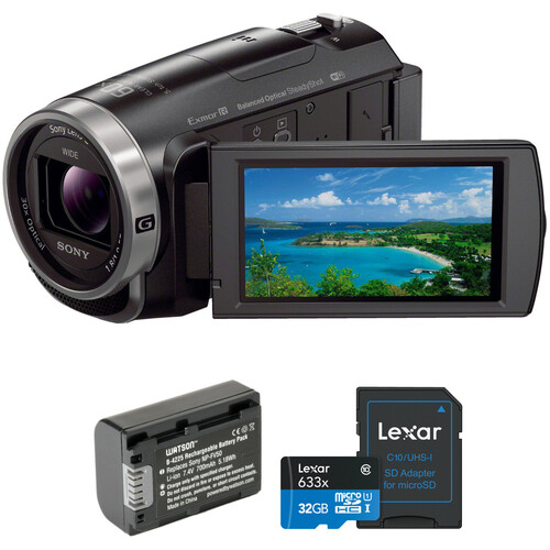 Sony HDR-CX675 Full HD Handycam Kit with Bag, Batteries & 32GB Card