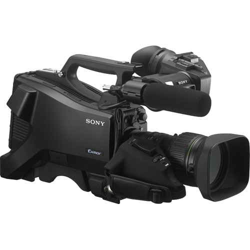 """Sony 3 2/3"""" Exmor CMOS Sensors SD/HD Studio Camera with Viewfinder & Mic"""