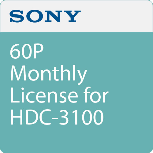 Sony 60P Monthly License for HDC-3100