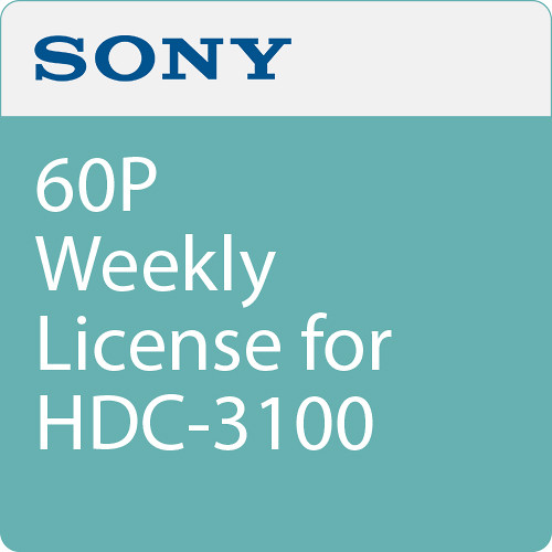 Sony 60P Weekly License for HDC-3100