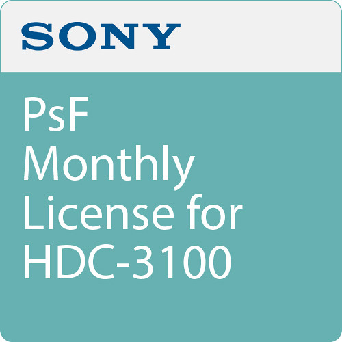 Sony PsF Monthly License for HDC-3100