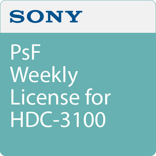 Sony PsF Weekly License for HDC-3100