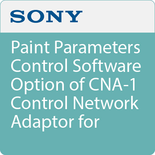 Sony Paint Parameters Control Software Option of CNA-1 Control Network Adaptor for BRC-H900 Robotic Camera and Select Remote Control Panels