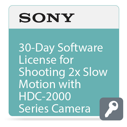 Sony 30-Day Software License for Shooting 2x Slow Motion with HDC-2000 Series Camera