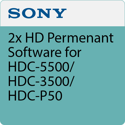 Sony 2x HD Perm Software for HDC-5500/HDC-3500/HDC-P50