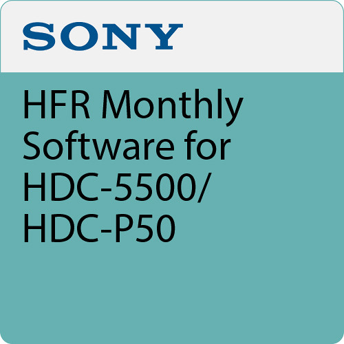 Sony HFR Monthly Software for HDC-5500/HDC-P50