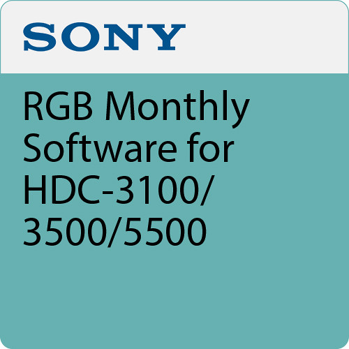 Sony RGB Monthly Software for HDC-3100/3500/5500