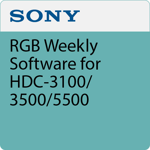 Sony RGB Weekly Software for HDC-3100/3500/5500