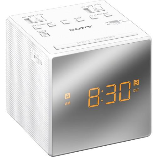 Sony Dual Alarm Clock Radio (White)
