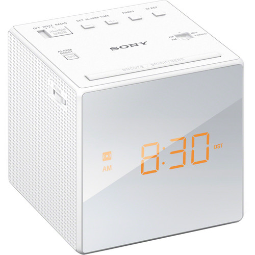 Sony Radio Alarm Clock (White)