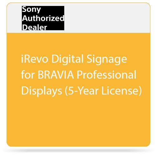 Sony iRevo Digital Signage for BRAVIA Professional Displays (5-Year License)