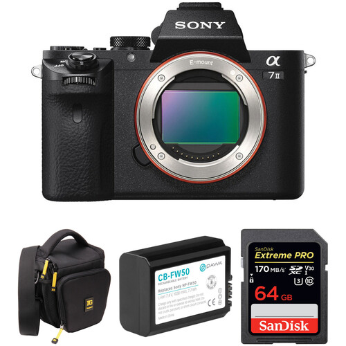 Sony Alpha a7 II Mirrorless Digital Camera with Accessory Kit
