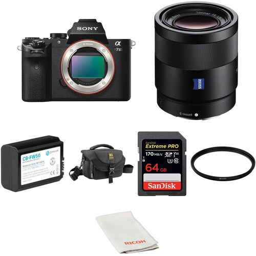 Sony Alpha a7 II Mirrorless Digital Camera with 55mm Lens and Accessories Kit
