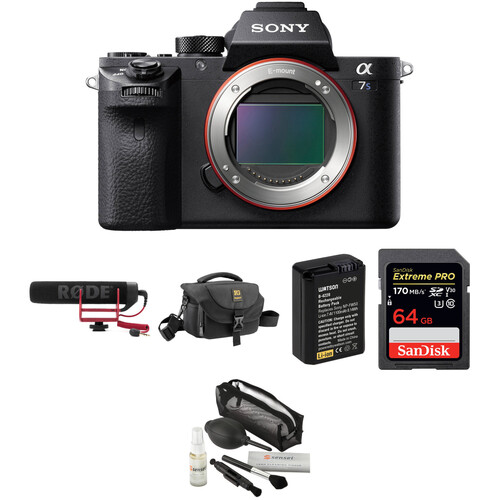 Sony Alpha a7S II Mirrorless Digital Camera with Microphone Kit