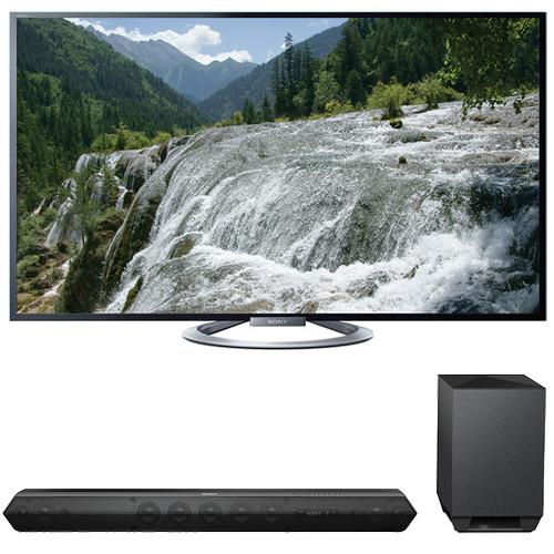 """Sony Sony KDL-55W802A 55"""" TV with HTST7 Sound Bar Kit"""