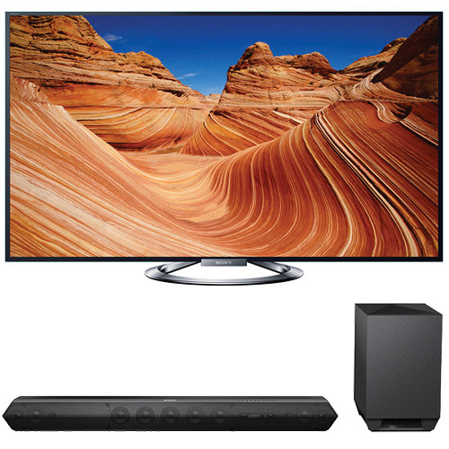 "Sony Sony KDL-55W900A 55"" TV with HTST7 Sound Bar Kit"