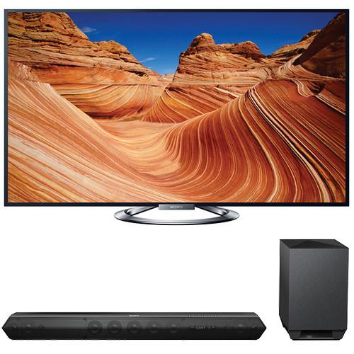 """Sony Sony KDL-55W900A 55"""" TV with HTST7 Sound Bar Kit"""