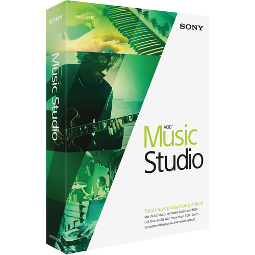 MAGIX Entertainment ACID Music Studio 10 - Music Production Platform (Retail 5-99 Tier Site-Licenses, Boxed)