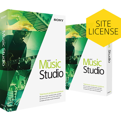 Sony ACID Music Studio 10 Upgrade - Music Production Platform (Retail Site-License, Download)