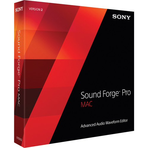 Sony Sound Forge Pro Mac 2.5 - Digital Audio Editing Software (5-99 Tier Site Licenses, Download)